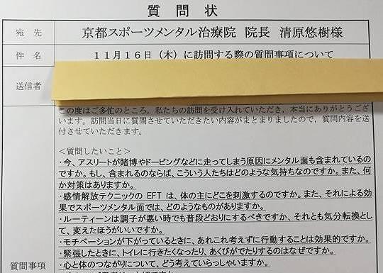 京都スポーツ整体院 メンタルケア 訪問学習 質問状